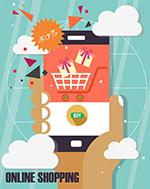 网上购物手机矢量