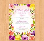 花卉婚礼菜单
