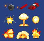 爆炸物和烟雾