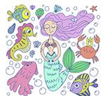 美人鱼和海洋动物