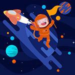 太空火箭和宇航员
