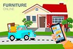 网上购买家具插画