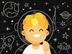 笑脸宇航员男子
