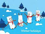 冬季假期雪人