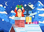 钻烟囱的圣诞老人