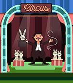 舞台表演的魔术师