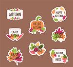 彩色秋季贴纸