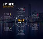 都市夜景商务信息图