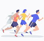 跑步男女设计