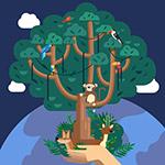 双手托举的树木