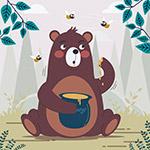 吃蜂蜜的棕熊