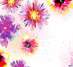 水彩绘花朵