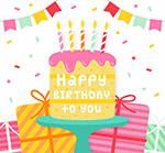 生日蛋糕和礼物