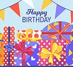 生日礼盒和三角拉旗