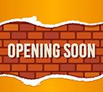 即将开业砖墙