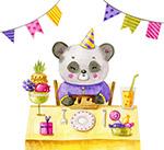 过生日的熊猫