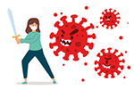 抵御病毒的女子