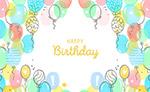 生日气球装饰贺卡
