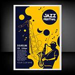 爵士乐音乐节传单