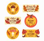 可爱秋季标签