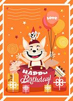 猫和老鼠生日贺卡