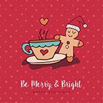 圣诞节姜饼人和咖啡