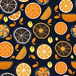 橙子无缝背景