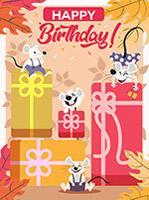 生日礼盒和老鼠