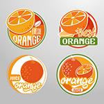橙汁标签矢量