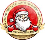 圣诞老人新年贺卡