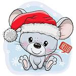 卡通圣诞老鼠