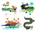 抽象鳄鱼设计