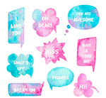 水彩绘语言气泡