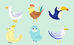 创意鸟类矢量