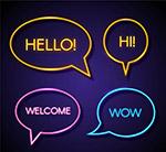 打招呼语言气泡