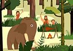 大象和野人