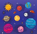 彩色太�系行星