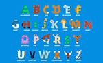 彩色动物形字母
