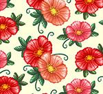 红色花朵无缝背景