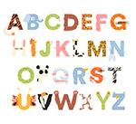 动物花纹字母