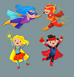 超级英雄装扮儿童