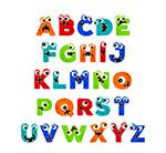 创意怪兽字母