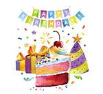 生日礼物和蛋糕