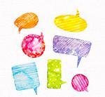 水彩花纹语言气泡