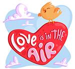 爱如空气爱心艺术字