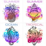 炫彩夏季海报