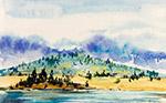 河流山林风景