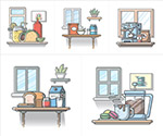 食物主题插画