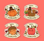 感恩节物品标签