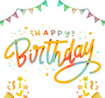 生日快乐艺术字